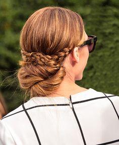 Olivia Palermo's braided updo