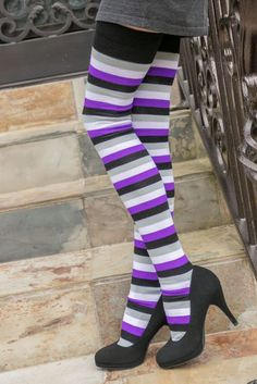 5dbc51fc532fe Dreamer Long Proud Stripes Tube Socks - $1 donation to OutRight Action.  Striped Tube SocksThigh High ...