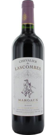 Chevalier de Lascombes Margaux 2006. Chateau Lascombe, Margaux; one of 14 Deuxieme Grand Crus Classes (Second Growths); Bordeaux