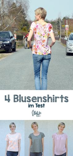Tshirts aus gewebten Stoffen selber nähen. Damit das gelingt habe ich 4 Blusenshirts im Vergleich. Welcher Stoff sich eignet liest du bei Elle Puls.