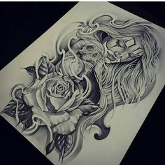 Pin by victor mendoza on ink tattoo drawings, chicano tattoos sleeve, chica Chicano Tattoos Sleeve, Skull Tattoos, Leg Tattoos, Body Art Tattoos, Girl Tattoos, Chicanas Tattoo, Clown Tattoo, Inca Tattoo, Grey Tattoo