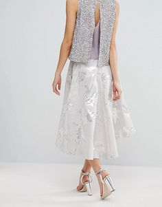 Summer silver skirt and top. ASOS.