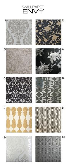 Modern stylish wallpaper for your home, concret, damask, metallics and much more.
