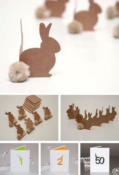 Brown bunny tags/placecards  -- so cute and easy with kraft paperstock!