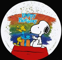 Is this a snow globe? Well, cute way to wish someone a happy day, anyway. Happy Birthday Snoopy Images, Snoopy Birthday, Happy Birthday Quotes, Happy Birthday Greetings, Snoopy Pictures, Snoopy Quotes, Happy Birthday Balloons, Charlie Brown And Snoopy, Funny