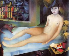 """Weimar: Heinrich Maria Davringhausen/Between 1924 and 1925 the artist lived in Toledo, Spain, but chose to settle in Cologne in where he founded """"Gruppe with Anton Räderscheidt et al. Woman Painting, Painting & Drawing, George Grosz, New Objectivity, Degenerate Art, Radler, Ludwig, Abstract Painters, Girl Dancing"""