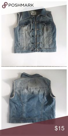 NWT American Rag Vest Brand new never worn American Rags Denim vest.   All garments are oxygen  soaked and cleaned. Ironed and starched before shipment.   Smoke and Pet free home. American Rag Tops