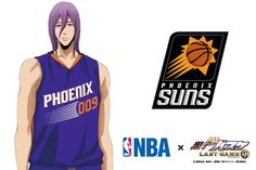 【NBA × Theatrical Version Kuroko no Basuke】 Collabo Visual 6th bullet is purple! The team to collaborate is Phoenix Sons! It is also known that Yuta Tabuse who played active part in Noshiro Industry in Akita Prefecture during high school years and became the first Japanese NBA player played. We are looking forward to the opening of full-length pictures that stand out for the goodness of purple's physique. # Kurobas