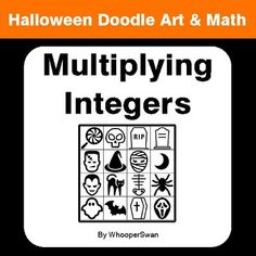 Halloween Math: Two Step Equations - Doodle Art & Math Halloween Doodle, Halloween Math, Simplifying Fractions, Math Fractions, Math Coloring Worksheets, One Step Equations, Framed Words, Math Graphic Organizers, Math Word Problems