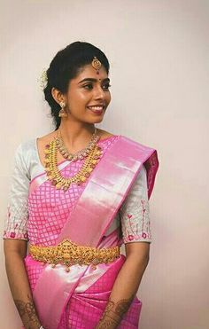 Saree Wedding, Wedding Bride, Sari Blouse Designs, My Career, South Indian Bride, Partners In Crime, Work Blouse, Saree Collection, Indian Fashion