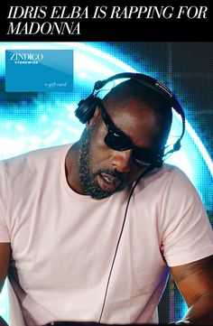 Idris Elba is many things: talented, classically handsome, classically….classic….and, surprisingly, a DJ and rapper. For those who haven't seen his skills in person you can catch him live opening for Madonna in Berlin. Come tell us what you like most about Idris! #zindigo #zindigodaily #fashion #designer #idris #elba #britain #hunk #sunglasses #gift #gifts #madonna #rap #DJ #music #handsome