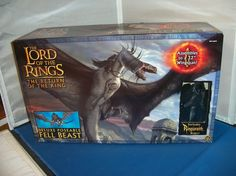 """The Lord Of The Rings Return Of The King Fell Beast 32"""" Action Figure Toy MISB! #ToyBiz"""