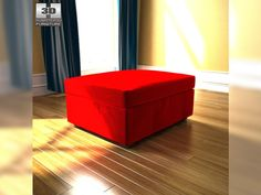 3D Model IKEA Kivik ottoman c4d, obj, 3ds, fbx