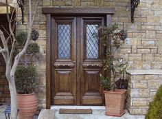 Beautiful residence.  Traditional Style  Double Leaf Security Door SabaDoor