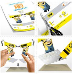 UHU Minion Crafts & Memory Game cards