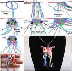 Macrame Owl Necklace