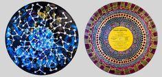 Art-thérapie /// Sara Roizen a donc créé une série de mandalas directement réalisés sur supports vinyles, en utilisant uniquement de la peinture acrylique, des pochoirs, des feutres et de l'encre.