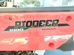 "New 2016 Honda Pioneerâ""¢ 1000 EPS ATVs For Sale in California. Not Just Bigger: Better. The outdoors is meant to be explored. The highest hills, the deepest canyons, and the farthest reaches of the forests all lie in wait. And now, we bring you an entirely new vehicle that can get you there. The all-new Pioneer 1000 is the world's preeminent side-by-side, both in the Honda lineup, and the industry. Built around a class-leading 999 cc twin-cylinder engine, it can haul up to 1,000 pounds…"