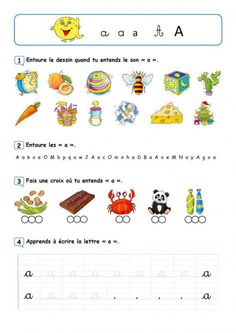 Fiches de révision des voyelles Plus #alphabet #alphabet #enfant