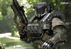 Sci-fi robotic police