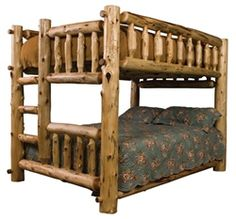 Deer Camp Full/Queen Bunkbed