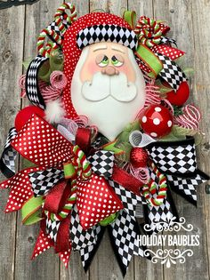 Santa and Stockings Whimsical Link Bracelets Hearts and Ribbons