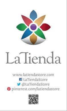 La Tienda Logo with contacts Mexican Home Decor, Logo Inspiration, Pottery, Design, Ceramica, Pottery Marks, Ceramic Pottery, Pots