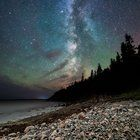 Long exposure submitted to Reddit by . Night at Hunters Head - Acadia Nat'l Park [1536x960] [OC]