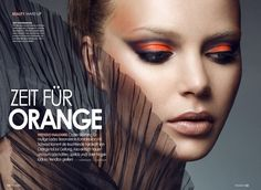 ORANGE IS THE TREND FOR MAKEUP THIS SEASON :) I AM LOVING IT!