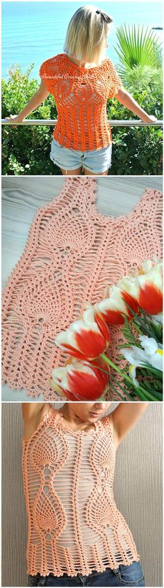 50+ Quick & Easy Crochet Summer Tops - Free Patterns - Page 2 of 9 - DIY & Crafts