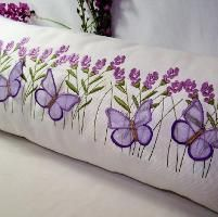 Lavender and Butterfly Pillow - via @Craftsy