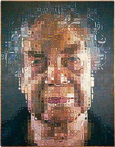 Merce Cunningham, portrait by Chuck Close via Museum Syndicate