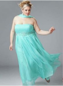 NEJLA - Evening dresses Plus size Princess Floor length Chiffon Strapless Occasion dress
