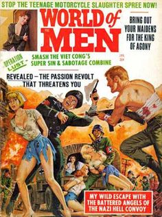 World of Men Magazine Cover Art - Cards Set - Men's Adventure Pulp Mag Pulp Fiction Art, Pulp Art, Trading Card Sleeves, Vintage Magazines, Men's Magazines, Pulp Magazine, Magazine Covers, Adventure Magazine, Art Trading Cards
