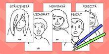 Dictionar de Emoții ilustrat, pentru Fisa Colorat, română