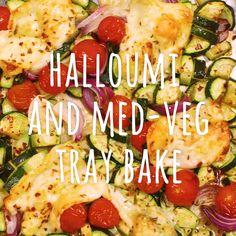 Our vegetarian tray bake packs in plenty of seasonal veg and salty halloumi for a vibrant summer dinner ready in 30 minutes Vegetarian Recipes Videos, Healthy Recipe Videos, Veg Recipes, Summer Recipes, Cooking Recipes, Healthy Recipes, Mediterranean Vegetarian Recipes, Summer Vegetarian Recipes, Quick Vegetarian Dinner