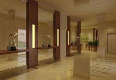 hall entrada edificios decoracion - Buscar con Google