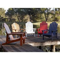Everyone in the family is going to want their own rustic Adirondack chair.