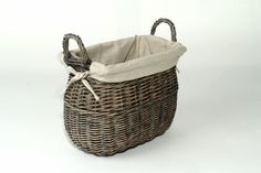 This stylish hand-woven dark willow basket can be used to keep a wide range of items nicely organized, including your books, keepsakes, toys, etc. The soft liner keeps your items clean and safe.
