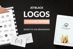 30 Premade Logos – Feminine Edition by AgataCreate on @creativemarket