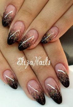 Nails Black And Gold Glitter Makeup Tutorials 68 Ideas nails black Nails Black And Gold Glitter Makeup Tutorials 68 Ideas Black Ombre Nails, Gold Glitter Nails, Rose Gold Nails, Glitter Nail Tips, Black Nails With Glitter, Glitter Lips, Cute Nails, Pretty Nails, Hair And Nails