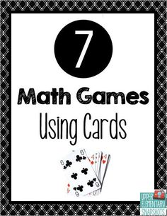 Fun, free game ideas using a deck of cards to reinforce multiplication, place value and fractions. Math Card Games, Card Games For Kids, Fun Math Games, Math Activities, Third Grade Math Games, Multiplication Games, Abc Games, Math Fractions, Learning Games