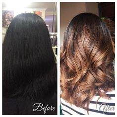 balayage before and after dark hair , Google Search
