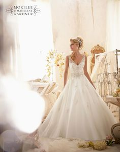 Mori Lee 2618 wedding dress • The latest Mori Lee bridal collection is full of gorgeous sparkly princess gowns