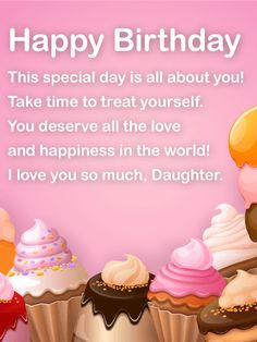 Happy Birthday Wishes Card For Daughter To Loved