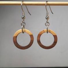 Apple wood. #earrings #woodearrings #mackeyartistry #jewelry