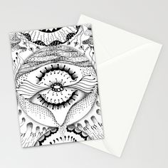 Mandala Worlds Stationery Cards by Guadalupe Brizuela Cabal | Society6. You can purchase this on http://society6.com/GuadalupeBrizuelaCabal