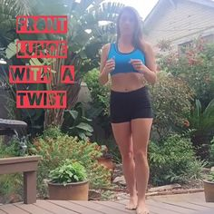 Front #lunge and #ab twist circuit from Body Compass Discovery