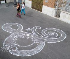 Blijven spelen | Stoepkrijt als straatkunst - Paradijsvogels Magazine