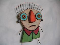 Day Dreamer 7, Original Found Object Sculpture, Wood Carving, Wall Art, by Fig Jam Studio via Etsy